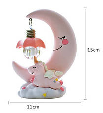 Детский светодиодный ночник Луна Единорог, детский светильник для спальни 14*10 см, фото 2