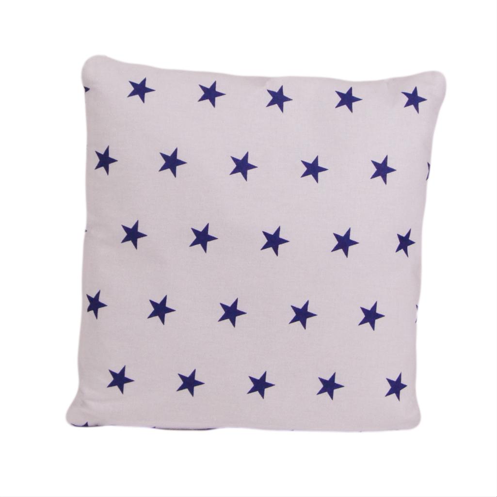Подушка, 30*30 см, (хлопок), (синие звезды)