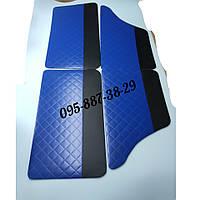 Обшивки дверей, дверные карты, карты двери ВАЗ 2101-2107 Люкс Синие!!!