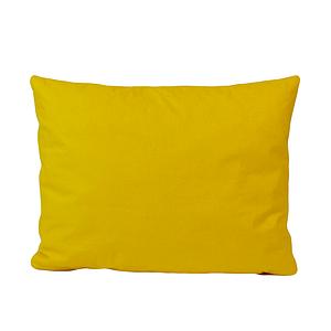 Подушка, 45*35 см, (бавовна), (яскраво жовтий)