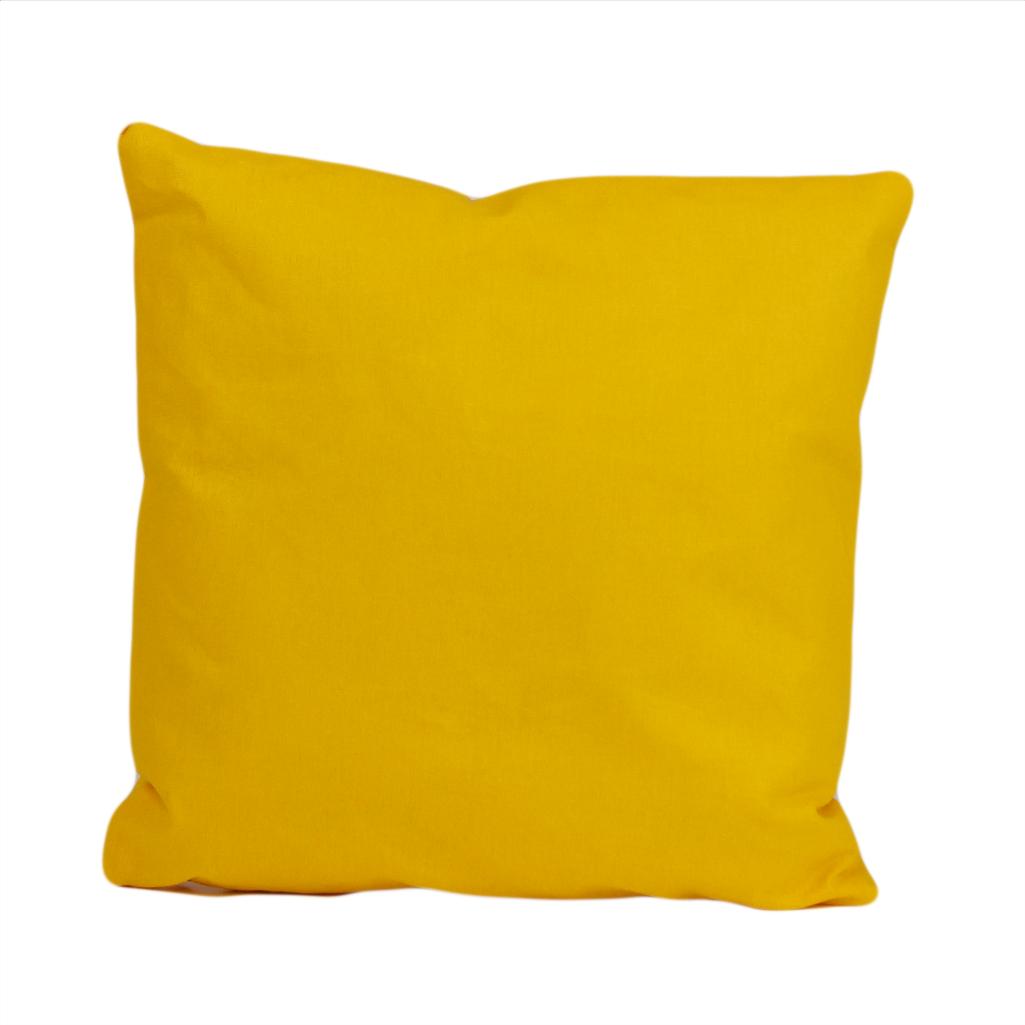 Подушка, 30*30 см, (бавовна), (яскраво-жовтий)