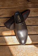 Кожаные туфли черные на резинке Ікос