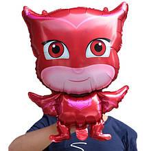 Фольгированный воздушный шар герои в масках  44*69 см. красный