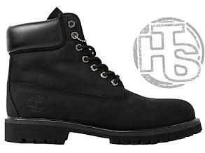 Мужские ботинки Timberland Classic Boots Black Winter (с мехом)