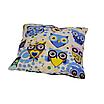 Подушка, 30*30 см, (хлопок), (сказочные совы голубые), фото 2