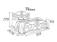 Металлическая кровать двуспальная Parma (Парма) Bella Letto 160х190, фото 3