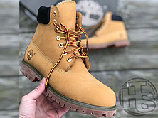Мужские ботинки Timberland Classic Boots Beige Winter (с мехом), фото 2