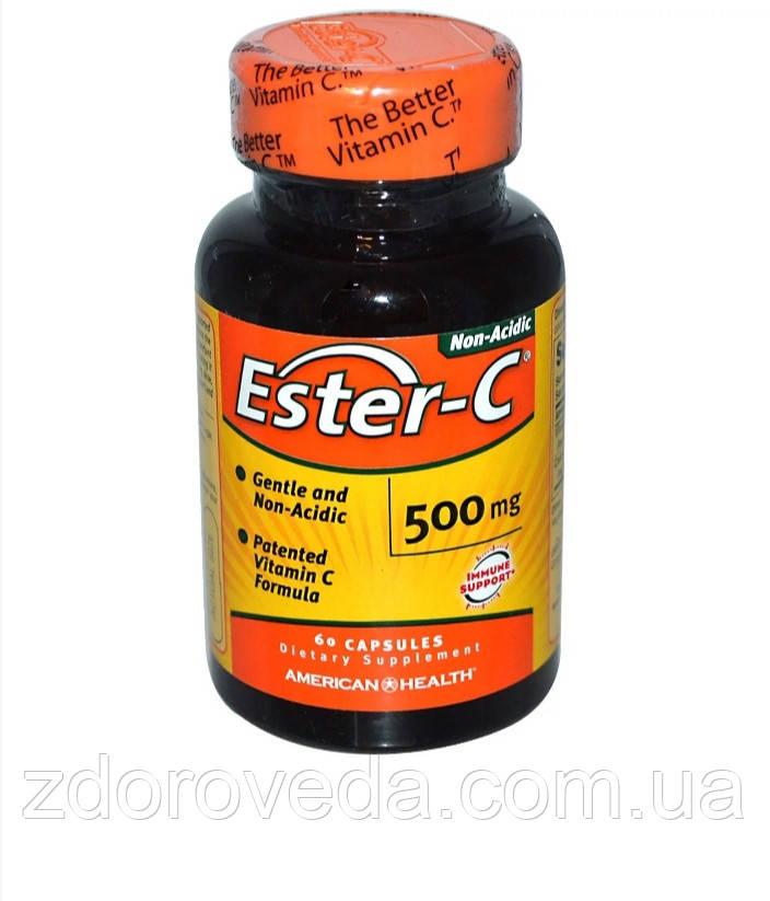 Витамин C-Эстер, Ester-C, 500 мг, 60 таблеток, American Health