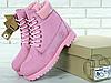 Женские ботинки Timberland Classic Boots Pink (с мехом), фото 5