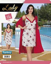 Комплект для сну 556 халат+сорочка Lady Lingerie