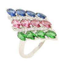 Серебряное кольцо Unicorn с фианитами (0578415) 16.5 размер