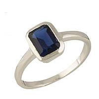 Серебряное кольцо  с сапфиром nano