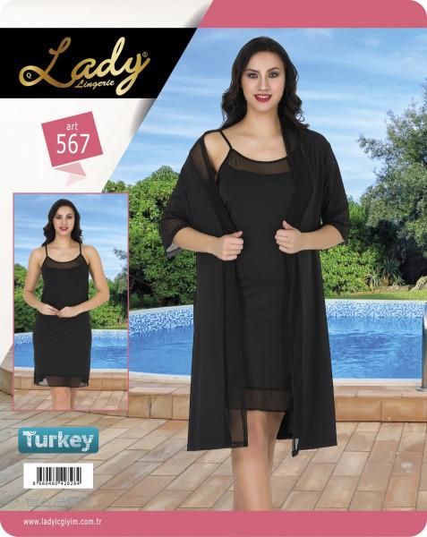 Комплект для сна 567 халат+рубашка Lady Lingerie