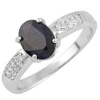 Серебряное кольцо Unicorn с натуральным сапфиром (0877068) 17 размер