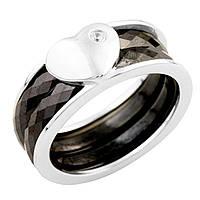 Серебряное кольцо Unicorn с керамикой (0936796) 17 размер