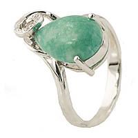 Серебряное кольцо Unicorn с натуральной бирюзой (1024614) 16.5 размер