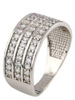 Серебряное кольцо Unicorn с фианитами (1037195) 16.5 размер