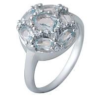 Серебряное кольцо Unicorn с натуральным топазом (1183687) 17.5 размер