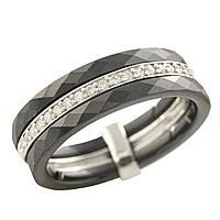 Серебряное кольцо Unicorn с керамикой (1223635) 19 размер, фото 1