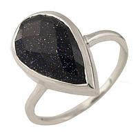 Серебряное кольцо  с натуральным авантюрином