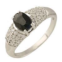 Серебряное кольцо  с натуральным сапфиром , фото 1
