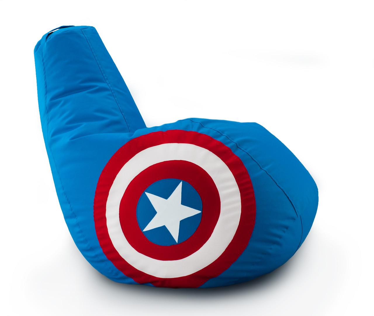 Крісло-груша «Капітан Америка» з тканини Оксфорд