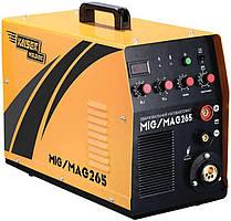 Зварювальний інверторний напівавтомат 2в1, 265 А, Kaiser MIG-265 (69566)