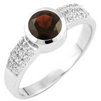 Серебряное кольцо Unicorn с натуральным гранатом (1451687) 17 размер, фото 1
