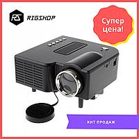Портативный мини проектор Smart UNIC 28+ WiFi, Full Hd черный (black)