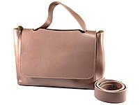 Модная женская сумка - Темная Пудра, фото 2