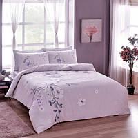 TAC Евро комплект постельного белья сатин  Julissa lilac