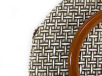 Модна жіноча сумка через плече - плетені кругла, фото 5