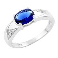 Серебряное кольцо  с сапфиром nano , фото 1