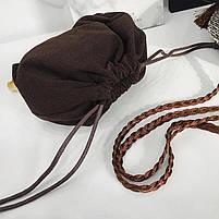Модна жіноча сумка через плече - плетені кругла, фото 6