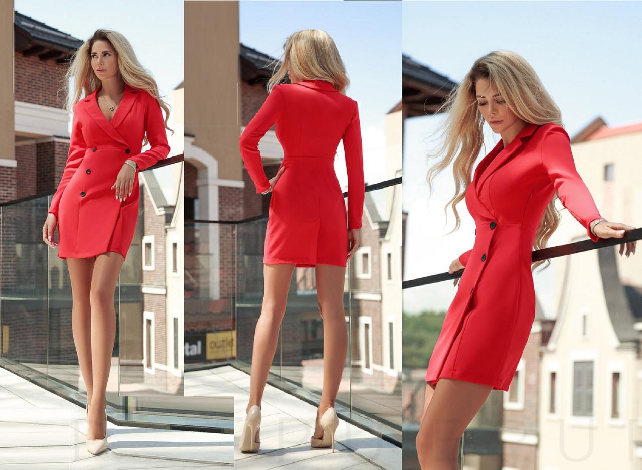 Стильное  платье-пиджак   для офиса  Gr 28118