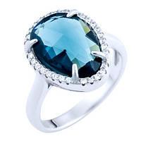 Серебряное кольцо Unicorn с гідротермальним кварцем (1725559) 18 размер
