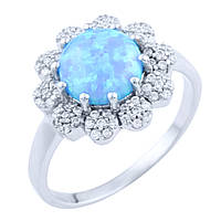 Серебряное кольцо Unicorn с опалом (1725610) 17 размер, фото 1