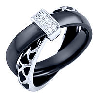 Серебряное кольцо  с керамикой, емаллю , фото 1