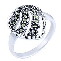 Серебряное кольцо  с натуральными марказитами , фото 1