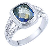Серебряное кольцо  с натуральным мистик топазом , фото 1