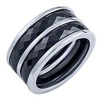 Серебряное кольцо  с керамикой , фото 1