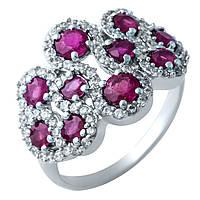 Серебряное кольцо  с натуральным рубином , фото 1