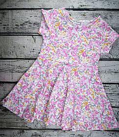 Платье летнее для девочек разноцветное хлопок Турция 122, Для девочек, Лето