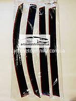 Дефлекторы окон ветровики  Рено  Кенгу  3d 1998-2007  Renault Kangoo 3d 1998-2007