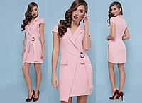 Платье с запахом и отложным воротником  Glem-Полина, фото 1