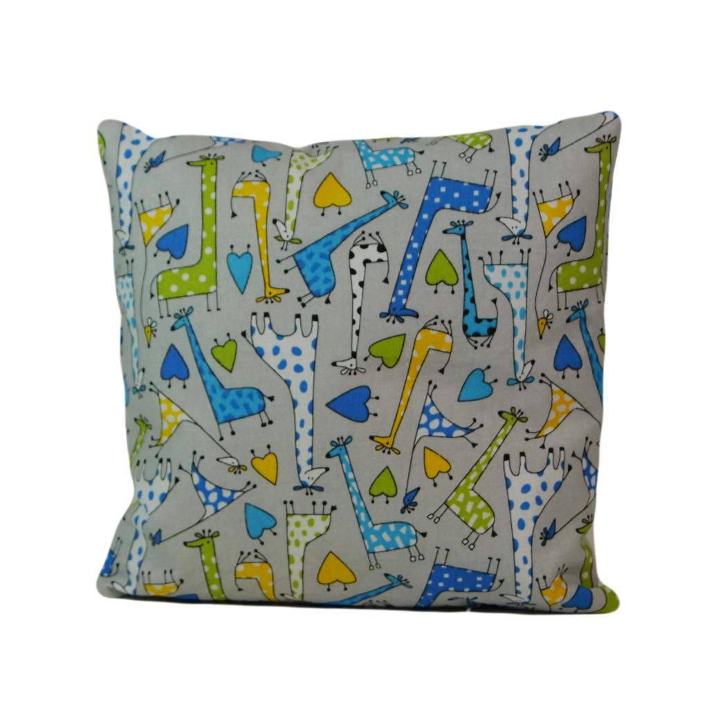 Подушка, 40*40 см, (хлопок), (жирафчики)