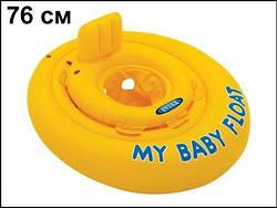 Надувной круг-плотик для плавания со спинкой (70 см)  sco
