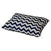 Подушка, 45*35 см, (хлопок), (зигзаги синие), фото 2