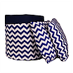 Подушка, 30*30 см, (хлопок), (зигзаги синие), фото 2