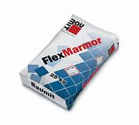 Біла високоеластична клейова суміш для мармуру Бауміт ФлексМармур/мішок 25кг